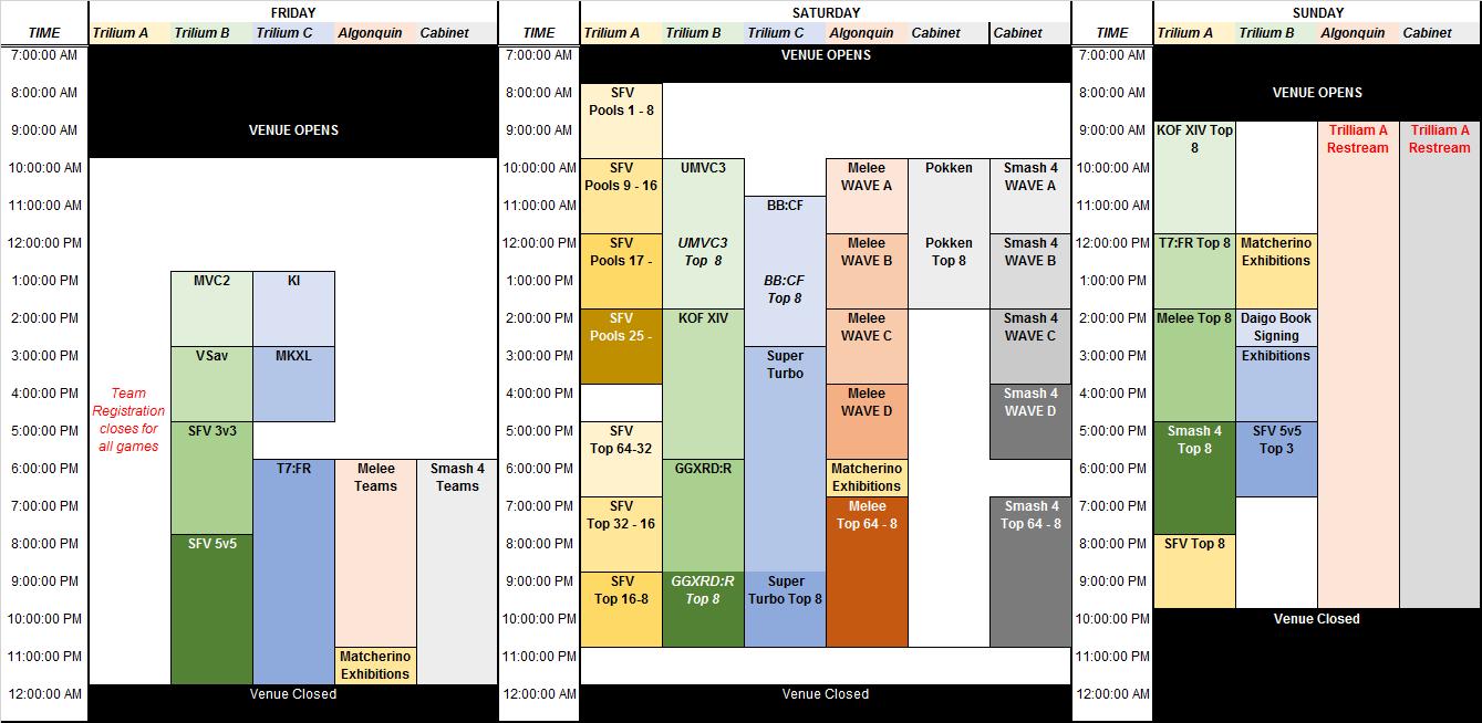 Canada Cup Stream Schedule